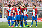 Tiago Cardoso Mendes (C) of Atletico de Madrid reacts with teammates during their La Liga match between Atletico de Madrid vs Athletic de Bilbao at the Estadio Vicente Calderon on 21 May 2017 in Madrid, Spain. Photo by Diego Gonzalez Souto / Power Sport Images