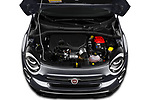 Car Stock 2019 Fiat 500X Cross-S-Design 5 Door SUV Engine  high angle detail view