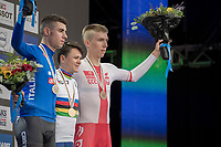 Tom Pidcock (GBR) is the new Junior iTT World Champion.<br /> Antonio Puppio (Ita) catches silver and Filip Maciejuk (Pol) gets bronze.<br /> <br /> Men Junior Individual Time Trial<br /> <br /> UCI 2017 Road World Championships - Bergen/Norway