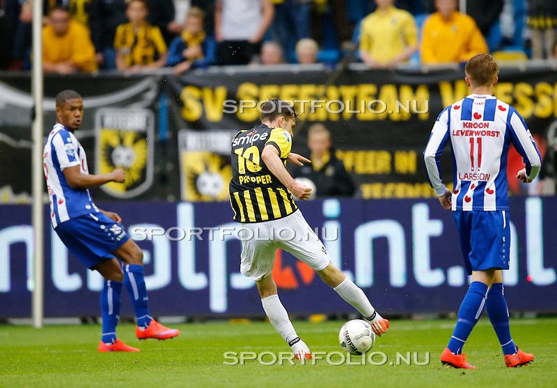 Nederland, Arnhem, 31 mei 2015<br /> Seizoen 2014-2015<br /> Play-offs voor voorronde Europa League<br /> Vitesse-SC Heerenveen (5-2)<br /> Davy Propper van Vitesse scoort met een afstandsschot