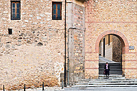 Enty point to the walled city of Segovia, Spain