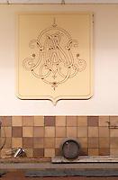 Oak barrel aging and fermentation cellar. Chateau Phelan-Segur, Saint Estephe, Medoc, Bordeaux, France
