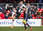 Ross County v St Johnstone…..30.04.16  Global Energy Stadium, Dingwall<br />Steven MacLean and Paul Quinn<br />Picture by Graeme Hart.<br />Copyright Perthshire Picture Agency<br />Tel: 01738 623350  Mobile: 07990 594431