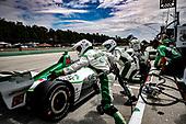 Colton Herta, Harding Steinbrenner Racing Honda, pit stop