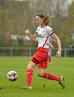 Zulte Waregem's defender Sheryl Merchiers  pictured during a female soccer game between SV Zulte - Waregem and KRC Genk on the 8 th matchday of the 2020 - 2021 season of Belgian Scooore Women s SuperLeague , saturday 21 th of November 2020  in Zulte , Belgium . PHOTO SPORTPIX.BE | SPP | DIRK VUYLSTEKE