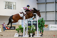 Rachael Bentall and Scott Borland. 1.15m-1.20m Relay. 2021 NZL-Easter Jumping Festival presented by McIntosh Global Equestrian and Equestrian Entries. NEC Taupo. Saturday 3 April. Copyright Photo: Libby Law Photography