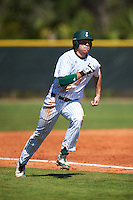 Eastern Michigan Eagles designated hitter Brennan Williams (27) running the bases during a game against the Dartmouth Big Green on February 25, 2017 at North Charlotte Regional Park in Port Charlotte, Florida.  Dartmouth defeated Eastern Michigan 8-4.  (Mike Janes/Four Seam Images)