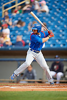 South Bend Cubs left fielder Zach Davis (22) at bat during the first game of a doubleheader against the Lake County Captains on May 16, 2018 at Classic Park in Eastlake, Ohio.  South Bend defeated Lake County 6-4 in twelve innings.  (Mike Janes/Four Seam Images)