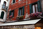 Windows above a Venice souvenir shop