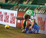 27.01.2021 Hibs v Rangers: Darren McGregor apologises after he catches Glen Kamara with his studs