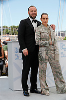 """CANNES, FRANCE - JULY 13:  Vladimar Johannsson and Noomi Rapace at the """"Lamb"""" photocall during the 74th annual Cannes Film Festival on July 13, 2021 in Cannes, France. <br /> CAP/GOL<br /> ©GOL/Capital Pictures"""