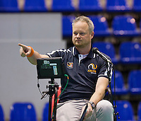 Rotterdam,Netherlands, December 17, 2015,  Topsport Centrum, Lotto NK Tennis, Chair Umpire Frank Roelands (NED)<br /> Photo: Tennisimages/Henk Koster