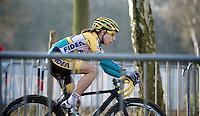 Jolien Verschueren (BEL/Telenet-Fidea) on her first day as a Telenet-Fidea rider<br /> <br /> GP Sven Nys 2015