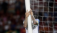 Calcio, Serie A: Roma, stadio Olimpico, 26 agosto, 2017.<br /> Inter's captain Mauro Icardi reacts during the Italian Serie A football match between Roma and Inter at Rome's Olympic stadium, AUGUST 26, 2017.<br /> UPDATE IMAGES PRESS/Isabella Bonotto