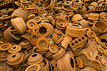 Recycled scrap metal waiting for export