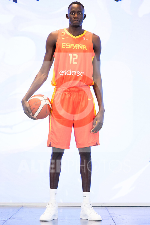 Player Ilimane Diop during the official presentation of Spanish National Team of Basketball.  July 24, 2019. (ALTERPHOTOS/Francis Gonzalez)