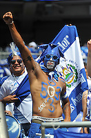 Salvadorean Fan.  The USMNT defeated El Salvador 5-1 at the quaterfinal game of the Concacaf Gold Cup, M&T Stadium, Sunday July 21 , 2013.