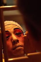 Canton-Oper, in der Maske, Hongkong, China