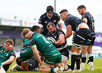 4th June 2021; Galway Sportsgrounds, Galway, Connacht, Ireland; Rainbow Cup Rugby, Connacht versus Ospreys; Sam Parry with his second try for Ospreys on the stroke of half time