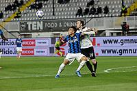Lautaro Martinez of Inter Ardian Ismajli  during the  italian serie a soccer match,Spezia Inter Milan at  the STadio Picco in La Spezia Italy ,