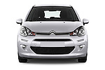 Car photography straight front view of a 2014 Citroen C3 Seduction 5 Door Hatchback 2WD Front View