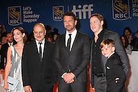 KATHLEEN MUNROE, ANUPAM KHER, GERARD BUTLER, DIRECTOR MARK WILLIAMS AND MAX JENKINS - RED CARPET OF THE FILM 'THE HEADHUNTER'S CALLING' - 41ST TORONTO INTERNATIONAL FILM FESTIVAL 2016 . 15/09/2016. # FESTIVAL INTERNATIONAL DU FILM DE TORONTO 2016