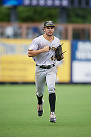 Bradenton Maruaders outfielder Daniel Amaral (43) during a Florida State League game against the Charlotte Stone Crabs on August 7, 2019 at Charlotte Sports Park in Port Charlotte, Florida.  Charlotte defeated Bradenton 2-0 in the first game of a doubleheader.  (Mike Janes/Four Seam Images)