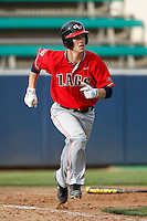 Cabe Reiten #2 of the Gonzaga Bulldogs runs the bases against the Loyola Marymount Lions at Page Stadium on March 28, 2013 in Los Angeles, California. (Larry Goren/Four Seam Images)