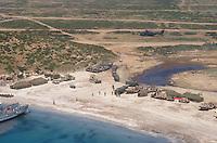 - military polygon of cape Teulada (Sardinia), US Marines camp....- poligono militare di Capo Teulada (Sardegna), accampamento Marines USA