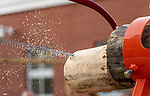 BEACON FALLS, CT-112020JS13—The sawdust was flying during the cross cut competition as members of the Woodland Timber Team compete in a Battle Royal Friday at Woodland Regional High School.<br />  Jim Shannon Republican-American