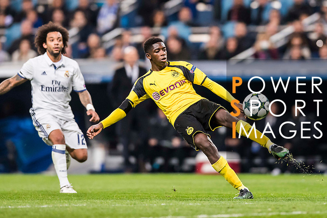 Ousmane Dembele of Borussia Dortmund in action during the 2016-17 UEFA Champions League match between Real Madrid and Borussia Dortmund at the Santiago Bernabeu Stadium on 07 December 2016 in Madrid, Spain. Photo by Diego Gonzalez Souto / Power Sport Images
