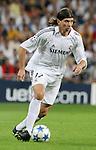 Real Madrid's Pablo Garcia during their Champions League match at Santiago Bernabeu Stadium in Madrid, Wednesday 28 September, 2005. (Photo / Alvaro Hernandez)