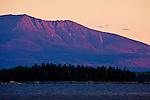 Sunrise view of Mount Katahdin over South Twin Lake, Penobscot County, ME, USA