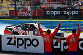 NASCAR XFINITY Series<br /> Zippo 200 at The Glen<br /> Watkins Glen International, Watkins Glen, NY USA<br /> Saturday 5 August 2017 <br /> Kyle Busch, NOS Rowdy Toyota Camry celebrates his win with a burnout<br /> World Copyright: Russell LaBounty<br /> LAT Images