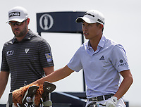 16th July 2021; Royal St Georges Golf Club, Sandwich, Kent, England; The Open Championship Tour Golf, Day Two; Collin Morikawa (USA) pulls  club from his bag