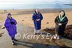 Caroline Corkery, Kevin Williams and Elaine Burrows Delane after their swim in Fenit on Sunday morning.