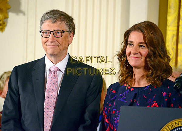 **FILE PHOTO** Bill And Melinda Gates Divorcing after 27 Years Of Marriage.<br /> <br /> United States President Barack Obama presents the Presidential Medal of Freedom to Bill and Melinda Gates during a ceremony in the East Room of the White House in Washington, DC on Tuesday, November 22, 2016.  The Presidential Medal of Freedom is the Nationís highest civilian honor.<br /> CAP/MPI/RS<br /> ©RS/MPI/Capital Pictures