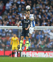 Manchester City's Gabriel Jesus and Brighton & Hove Albion's Shane Duffy<br /> <br /> Photographer Rob Newell/CameraSport<br /> <br /> Emirates FA Cup Semi-Final - Manchester City v Brighton & Hove Allbion - Saturday 6th April 2019 - Wembley Stadium - London<br />  <br /> World Copyright © 2019 CameraSport. All rights reserved. 43 Linden Ave. Countesthorpe. Leicester. England. LE8 5PG - Tel: +44 (0) 116 277 4147 - admin@camerasport.com - www.camerasport.com