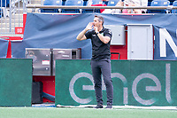 FOXBOROUGH, MA - JULY 4: John Harkes head coach of Greenville Triumph SC during a game between Greenville Triumph SC and New England Revolution II at Gillette Stadium on July 4, 2021 in Foxborough, Massachusetts.