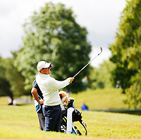 4th July 2021; Mount Juliet Golf Club, Kilkenny, Ireland; Dubai Duty Free Irish Open Golf, Day Four; Rory Mcilroy of Northern Ireland takes his second shot from the 9th hole rough