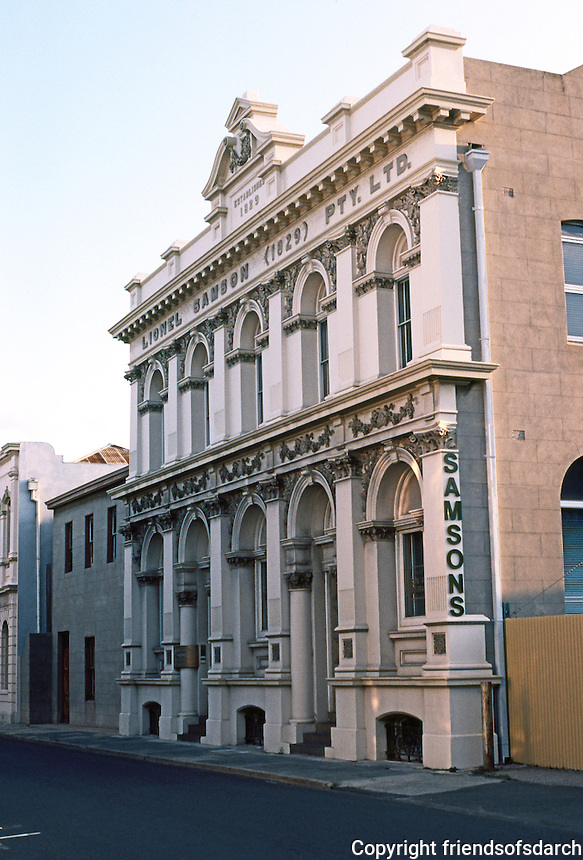 Fremantle: Samson & Co., Wine Importers, Cliff St. 1898. To the left, the old Samson residence, 1835. Photo '82.