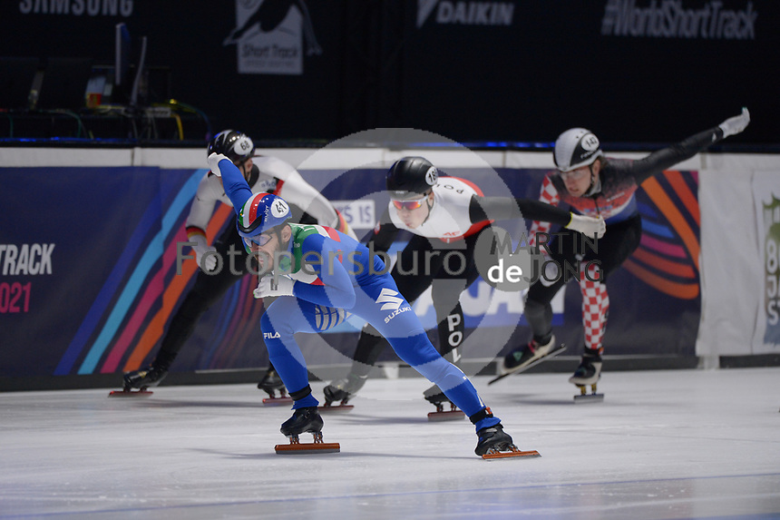 SPEEDSKATING: DORDRECHT: 06-03-2021, ISU World Short Track Speedskating Championships, RF 500m Men, Yuri Confortola (ITA), ©photo Martin de Jong