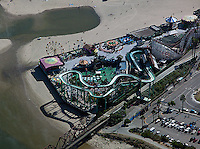aerial photograph of the Beach Boardwalk, Santa Cruz, California