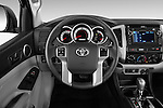Car pictures of steering wheel view of a 2015 Toyota Tacoma PreRunner 4 Door Pick up Steering Wheel