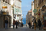 Italy, Calabria, beach resort Tropea: old town lane
