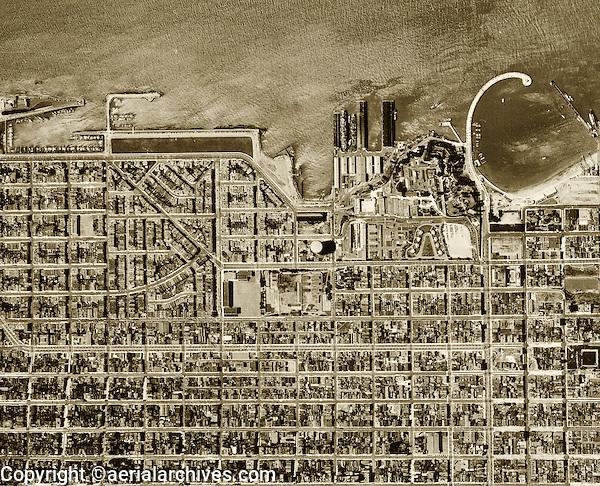 aerial photograph Marina District San Francisco, California, 1946