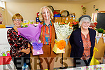 Mairead Devane and Aileen Fuller retiring from Moyderwell NS on Friday receive flowers from Moira Quinlan, Principal.