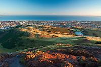 Edinburgh, the Firth of Forth, East Lothian and Fife from Arthur's Seat, Edinburgh, Lothian