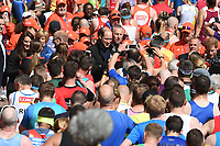 Duke and Duchess of Cambridge and Prince Harry<br /> give out Medals at the finish line on The Mall at the 2017 London Marathon, London. <br /> <br /> <br /> ©Ash Knotek  D3254  23/04/2017