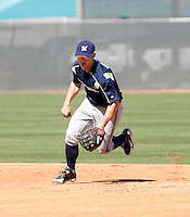 Adam Heether - Milwaukee Brewers - 2009 spring training.Photo by:  Bill Mitchell/Four Seam Images